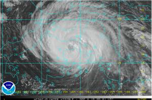 Taifun KILO mit erkennbarem Auge im Zentrum