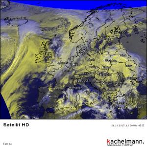 Satellitenbild, 21.10.2015, 13 Uhr