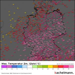Die Höchstwerte von Sonntag, 5.7.2015 Für jeden einsehbar und zoombar auf http://kachelmannwetter.com/de/messwerte