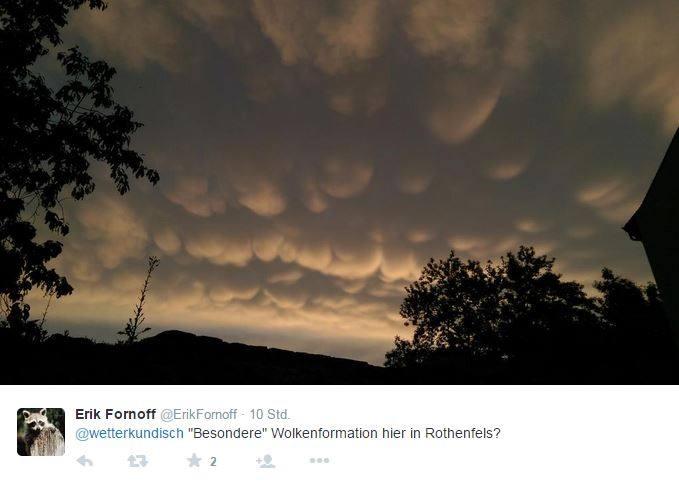 Mammatus-Wolken bei Rothenfels