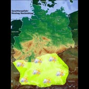 Video: Gewittervorwarnung und Starkregenwarnung für Süddeutschland