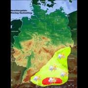 Video: Unwetter-Vorwarnung für Süddeutschland am Montag, 1.6.2015