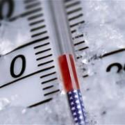 Thermometer-knapp-über-Null-Grad