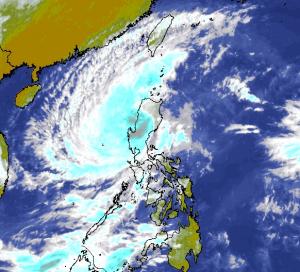 """Taifun Koppu, dort auch """"Lando"""" genannt"""