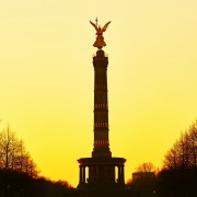 The Victory Column at sunset, Berlin, Germany