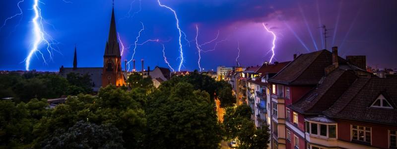 Gewitter über Berlin
