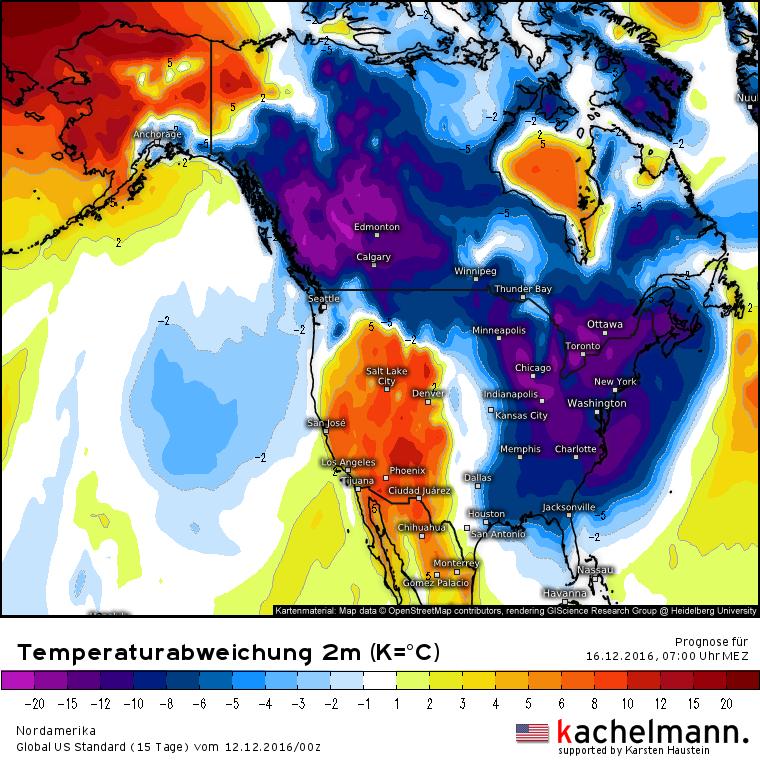 Temperaturabweichung USA