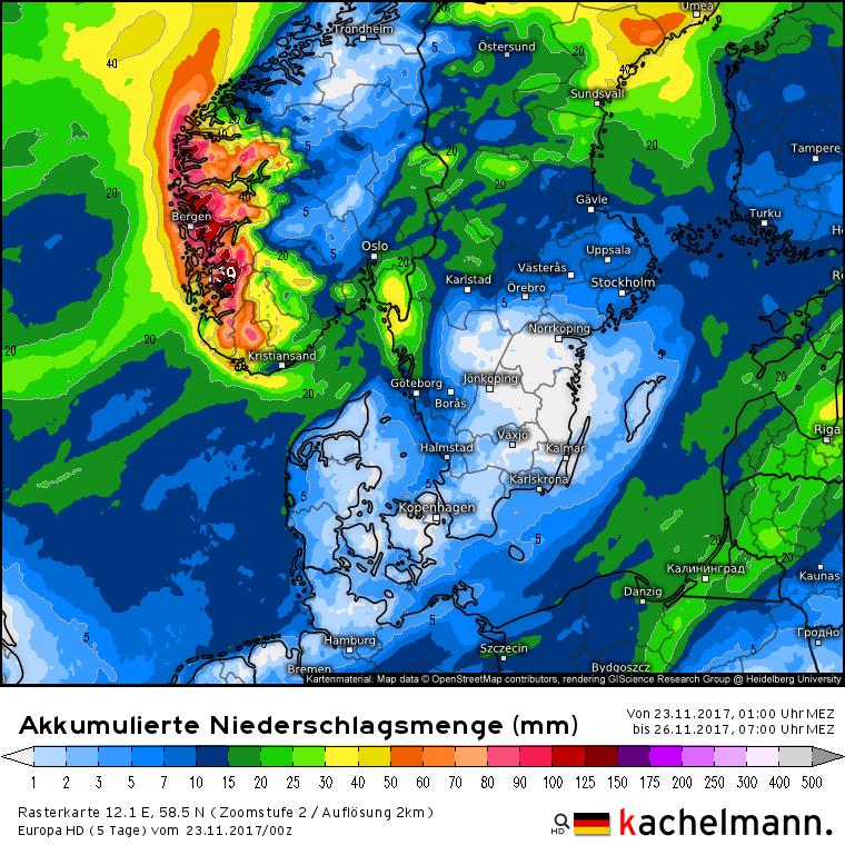 Wetter Südnorwegen
