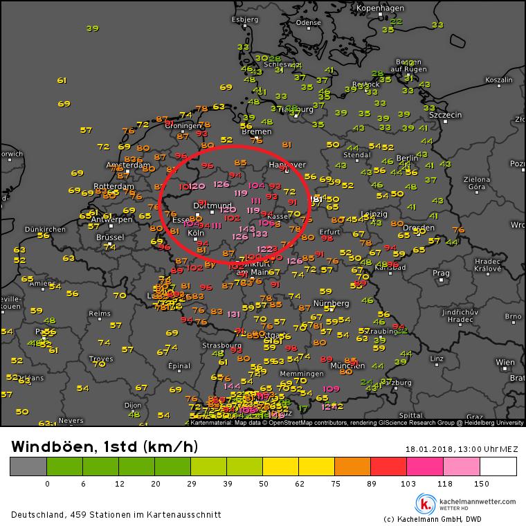 Live-Wetter-Ticker Sturm FRIEDERIKE am Donnerstag – Wetterkanal vom ...