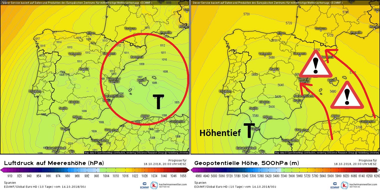 Unwetter Mallorca Karte.Unwettergefahr Spanische Mittelmeerküste Und Balearen Wetterkanal